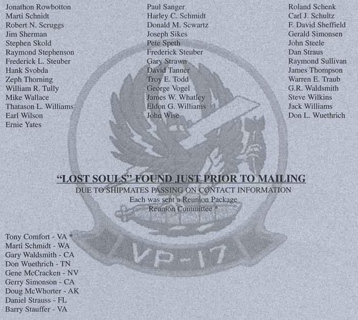 VP-17 Reunion Information
